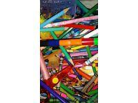 HUGE collection of crafts includes: CRAYOLA Crayon Maker, craft kits, HUGE bag pens/pencils/crayons