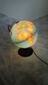 Light up globe lamp