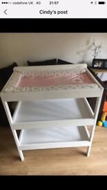 John Lewis white solid wood changing table