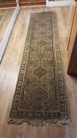 Brown Patterned Runner Rug in Good Condition