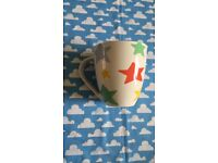 Cath kidston star print large mug. Churchill fine china cup. Rainbow colours