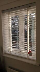 Brand new white wooden blinds