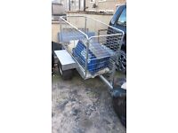 garden trailer galvanized good condition ready to use on farms