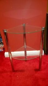 Glass Two Tier Side Table