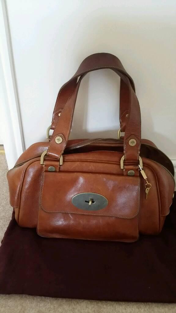 ecf77049a2 AUTHENTIC MULBERRY JAMIE HANDBAG in Darwin Oak Leather ...