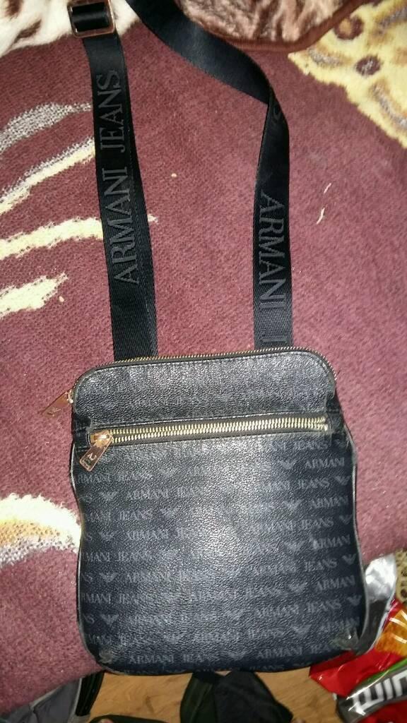 a5a01c0a7a26d4 Armani jeans pouch manbag aj