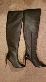 Nina allure thigh boots worn once fit size 3