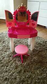 Girls dressing up table