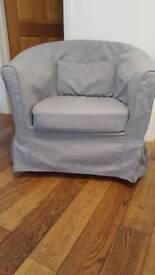 Ikea tub armchair with Tullsta cover