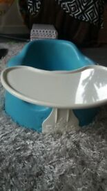 blue bumbo seat and tray