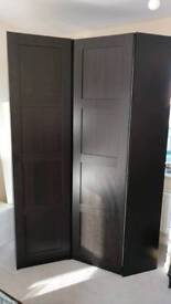 Pax corner and single wardrobe