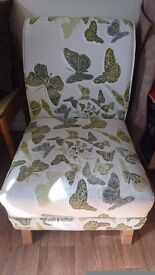 DFS Escape accent chair. Butterflies in lime.
