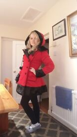 Red Hell Bunny Sarah Jane Coat size 16/xl brand new