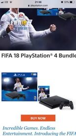 PS4 used twice with fifa 18