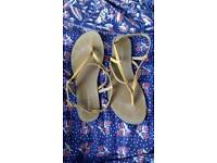 Leather Sandals Size 4