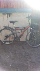 Black probike razor suspension bike