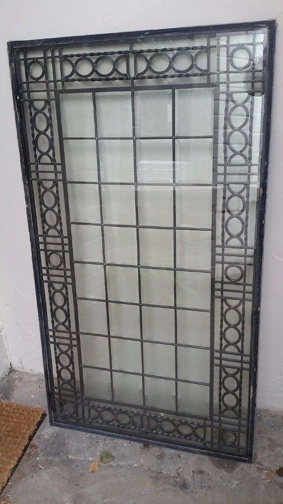 Leaded Glass Window or Door Panel
