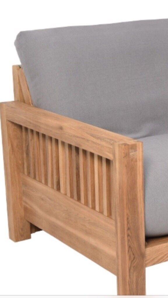 FUTON COMPANY BRAND NEW UNOPEN OAK DOUBLE SOFA BED