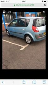 Renault scenic 5 seater 1 year moti good condition in and aut