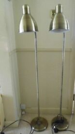 2 FLOOR STANDING ADJUSTABLE LAMPS - USED BUT IN EXCELLENT CONDITION