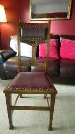 Four Oak Dining Chairs - great upcycle project!