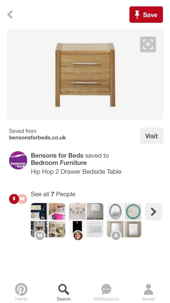 Brand New Boxed Bedside Table Bensons For Beds Hip Hop Range