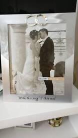 Silver wedding frame
