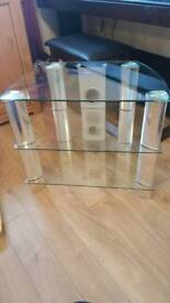 John Lewis glass TV stand