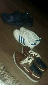 Kids trainers & pair of deck shoes