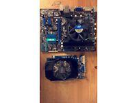 I3-2100 3.1Ghz Asus P8HM1-MX R2.0 Bundle (check description)
