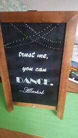 Wedding sign chalkboard. Free standing