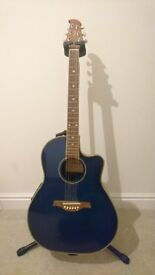Electro-Acoustic Guitar - Blue Tanglewood Odyssey TMO-7NC