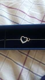 Swarovski Double Heart Bracelet