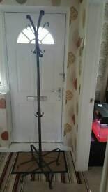 Black ikea metal coat stand