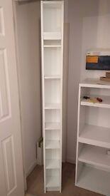 Pair of IKEA GNEDBY modular shelving