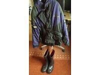 Mens motor bike jacket and boots.