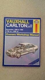 Haynes Vauxhall Carlton 4-cyl, petrol Owners Workshop Manual November 1986-1989