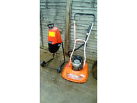 """FLYMO CONTRACTOR GT2 18"""" PETROL HOVER MOWER + FREE SHREDDER"""