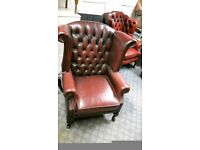 Thomas Lloyd Leather Chesterfield Wingback Chair