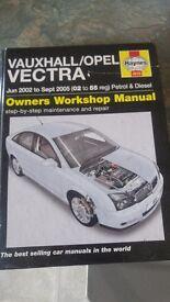 Vauxhall vectra/opel service book