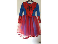 Girls Spiderman / Spidergirl costume Age 7-8 with mask