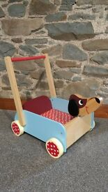 Wooden Dog Toy Cart/ baby walker