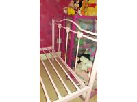 Single pink bed frame