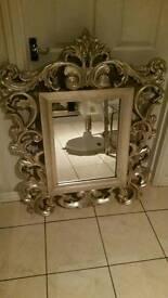 Gorgeous Next Rocco silver mirror LARGE