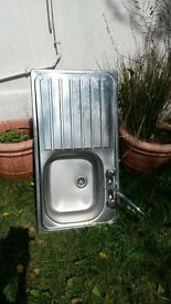 Stainless Steel Kitchen Sink with mixer tap - as new