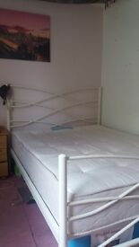 Cream double bed for sale