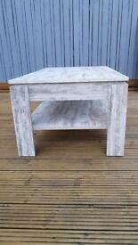 Shabby chic/ distressed white coffee table