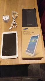 Samsung tab 3 7 inch with 32 gig memory card