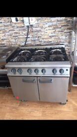 Falcon 6 ring gas burner with oven