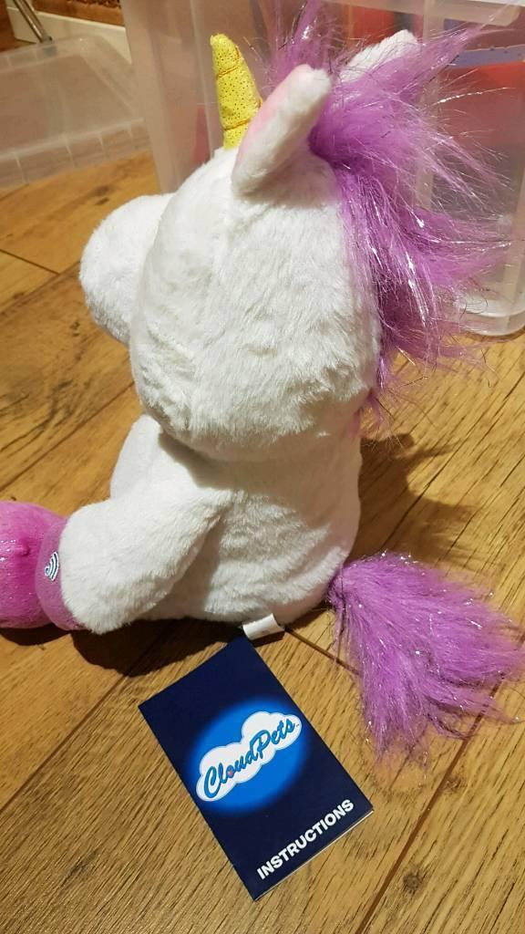 cloud pet unicorn with batteries in camberley surrey gumtree